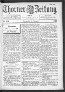 Thorner Zeitung 1895, Nr. 276 Erstes Blatt