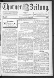 Thorner Zeitung 1895, Nr. 277