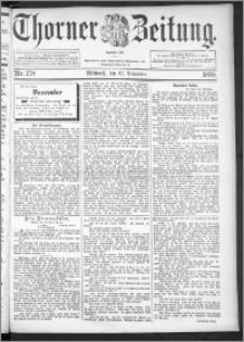 Thorner Zeitung 1895, Nr. 278