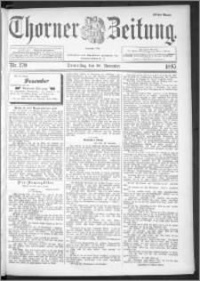 Thorner Zeitung 1895, Nr. 279 Erstes Blatt
