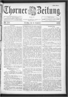 Thorner Zeitung 1895, Nr. 289 Erstes Blatt