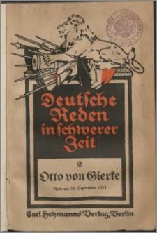Krieg und Kultur : Rede am 18. September 1914