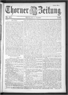 Thorner Zeitung 1895, Nr. 288 Erstes Blatt