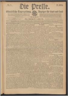 Die Presse 1913, Jg. 31, Nr. 7 Zweites Blatt, Drittes Blatt
