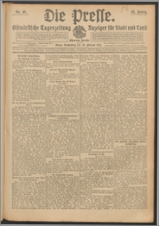 Die Presse 1913, Jg. 31, Nr. 43 Zweites Blatt, Drittes Blatt