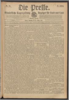 Die Presse 1913, Jg. 31, Nr. 65 Zweites Blatt, Drittes Blatt