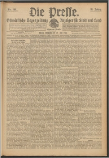 Die Presse 1913, Jg. 31, Nr. 140 Zweites Blatt, Drittes Blatt