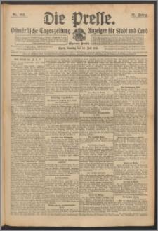 Die Presse 1913, Jg. 31, Nr. 168 Zweites Blatt, Drittes Blatt, Viertes Blatt, Fünftes Blatt