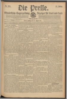 Die Presse 1913, Jg. 31, Nr. 202 Zweites Blatt, Drittes Blatt