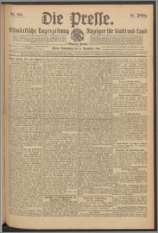 Die Presse 1913, Jg. 31, Nr. 261 Zweites Blatt, Drittes Blatt