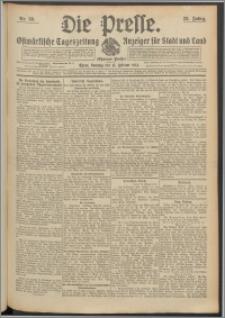 Die Presse 1914, Jg. 32, Nr. 39 Zweites Blatt, Drittes Blatt, Viertes Blatt
