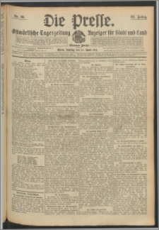 Die Presse 1914, Jg. 32, Nr. 86 Zweites Blatt, Drittes Blatt, Viertes Blatt, Fünftes Blatt