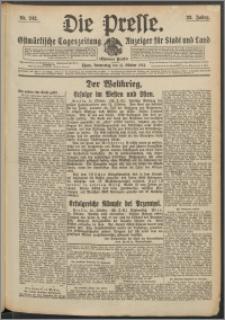 Die Presse 1914, Jg. 32, Nr. 242 Zweites Blatt