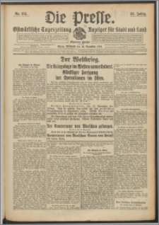 Die Presse 1914, Jg. 32, Nr. 271 Zweites Blatt