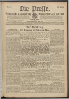 Die Presse 1915, Jg. 33, Nr. 54 Zweites Blatt, Drittes Blatt