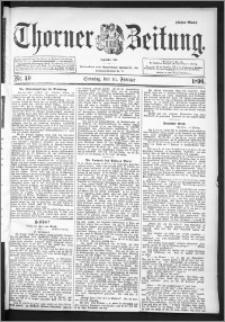 Thorner Zeitung 1896, Nr. 40 Erstes Blatt