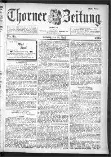 Thorner Zeitung 1896, Nr. 98 Erstes Blatt