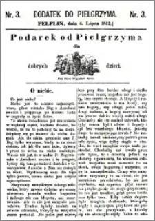 Pielgrzym, pismo religijne dla ludu 1872, dodatek nr 3