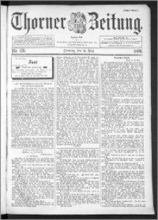 Thorner Zeitung 1896, Nr. 126 Erstes Blatt