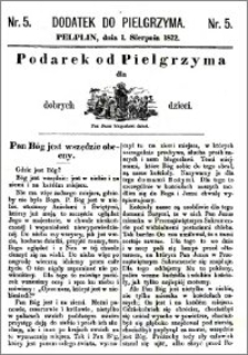 Pielgrzym, pismo religijne dla ludu 1872, dodatek nr 5