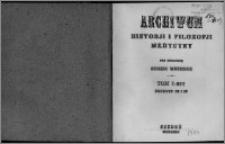 Archiwum Historii i Filozofii Medycyny 1924 t.1 z.3-4