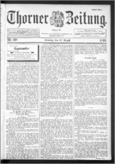 Thorner Zeitung 1896, Nr. 198 Erstes Blatt