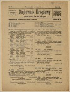 Orędownik Urzędowy Powiatu Świeckiego, 1928, Nr 17