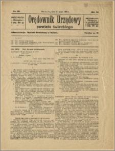 Orędownik Urzędowy Powiatu Świeckiego, 1928, Nr 30