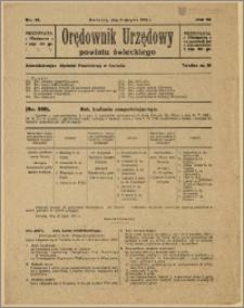 Orędownik Urzędowy Powiatu Świeckiego, 1928, Nr 41