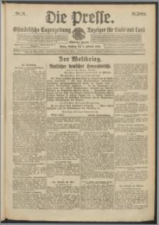 Die Presse 1916, Jg. 34, Nr. 31 Zweites Blatt