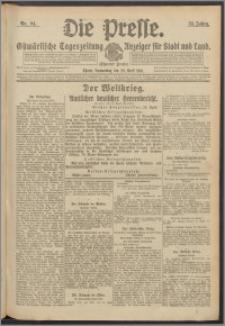 Die Presse 1916, Jg. 34, Nr. 94 Zweites Blatt