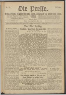 Die Presse 1916, Jg. 34, Nr. 98 Zweites Blatt