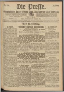 Die Presse 1916, Jg. 34, Nr. 224 Zweites Blatt
