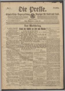 Die Presse 1917, Jg. 35, Nr. 1 Zweites Blatt