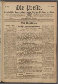 Die Presse 1917, Jg. 35, Nr. 189 Zweites Blatt