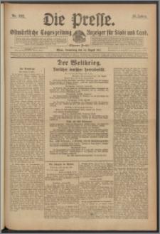 Die Presse 1917, Jg. 35, Nr. 202 Zweites Blatt