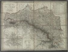 General- Post- und Strassen Karte des Königreichs Galizien
