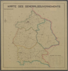 Karte des Generalgouvernements