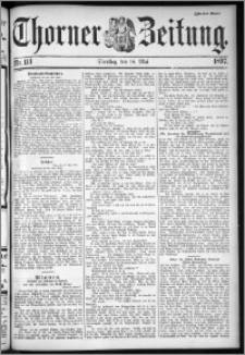 Thorner Zeitung 1897, Nr. 114 Zweites Blatt