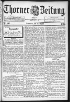 Thorner Zeitung 1897, Nr. 198