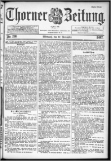 Thorner Zeitung 1897, Nr. 269 Erstes Blatt