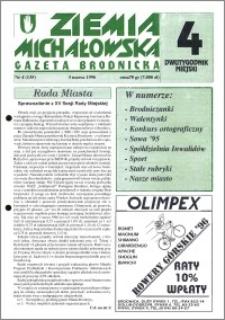 Ziemia Michałowska : Gazeta Brodnicka R. 1996, Nr 4 (135)