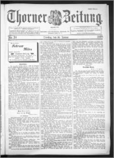 Thorner Zeitung 1898, Nr. 20 Erstes Blatt