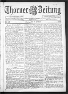 Thorner Zeitung 1898, Nr. 37 Erstes Blatt