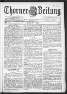 Thorner Zeitung 1898, Nr. 77 Erstes Blatt