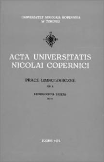Zeszyty Naukowe Uniwersytetu Mikołaja Kopernika w Toruniu. Nauki Matematyczno-Przyrodnicze. Prace Limnologiczne, z. 8 (34), 1974