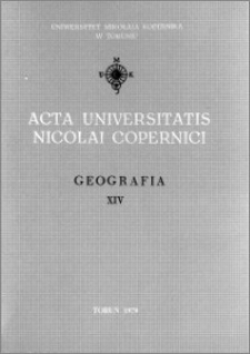 Acta Universitatis Nicolai Copernici. Nauki Matematyczno-Przyrodnicze. Geografia, z. 14 (46), 1979