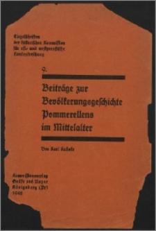 Beiträge zur Bevölkerungsgeschichte Pommerellens im Mittelalter