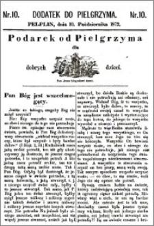 Pielgrzym, pismo religijne dla ludu 1872, dodatek nr 10