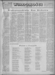 Wiadomości 1950, R. 5, nr 1 (196)